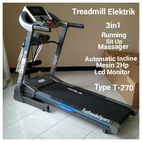 Treadmill Elektrik MultiFungsi T-270 Auto Incline