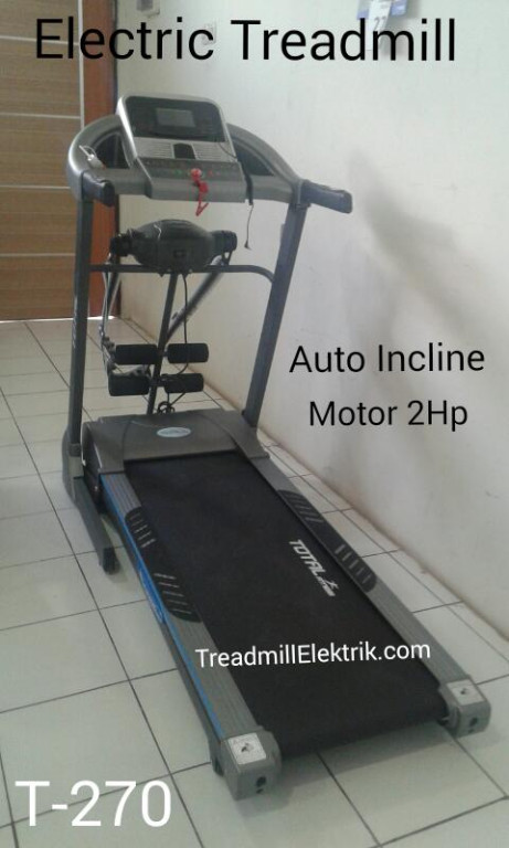 Treadmill Elektrik T-270 Mesin 2Hp