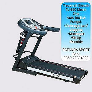Treadmill Elektrik TL-650 Mesin 2Hp Auto Incline