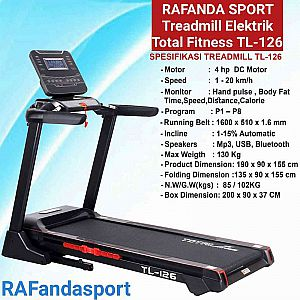 Treadmill Elektrik Big Total Fitness TL-126 Mesin 4Hp